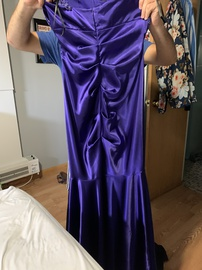 Purple Size 10 Mermaid Dress on Queenly