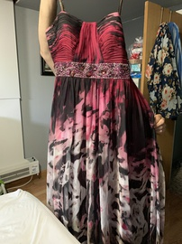 Queenly size 14 Camille La Vie Multicolor A-line evening gown/formal dress