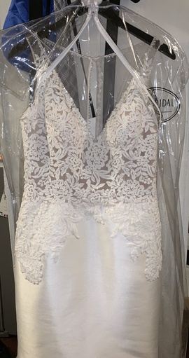Queenly size 12  White Mermaid evening gown/formal dress