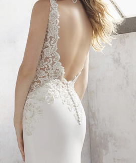 Mori Lee White Size 2 Wedding Backless Lace A-line Dress on Queenly