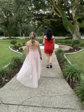 David's Bridal Light Pink Size 0 Halter Cocktail Dress on Queenly