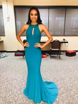 Queenly size 2 Sherri Hill Green Straight evening gown/formal dress