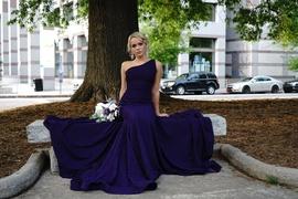 Jovani Purple Size 0 Train Mermaid Dress on Queenly