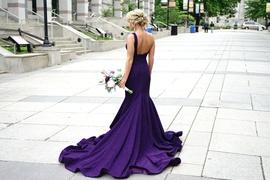 Queenly size 0 Jovani Purple Mermaid evening gown/formal dress