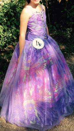 Queenly size 10 Tiffany Purple Ball gown evening gown/formal dress