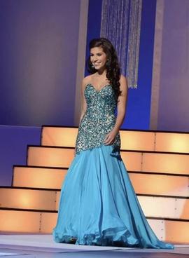 Sherri Hill Blue Size 2 Sweetheart Custom Mermaid Dress on Queenly
