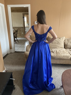 Sherri Hill Blue Size 0 Custom Ball gown on Queenly