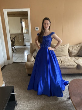 Queenly size 0 Sherri Hill Blue Ball gown evening gown/formal dress
