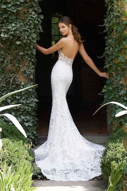 Mori Lee White Size 4 Wedding Lace Mermaid Dress on Queenly
