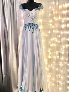 Queenly size 2 Sherri Hill Blue Straight evening gown/formal dress