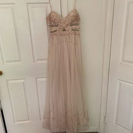 Adrianna Papell Nude Size 10 A-line Dress on Queenly