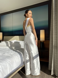 White Size 0 Romper/Jumpsuit Dress on Queenly
