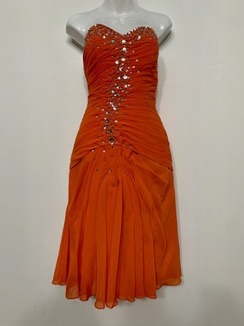 Queenly size 2  Orange Cocktail evening gown/formal dress