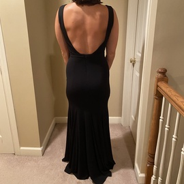 Jovani Black Size 4 Prom Backless Mermaid Dress on Queenly