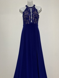 Queenly size 0  Blue Side slit evening gown/formal dress