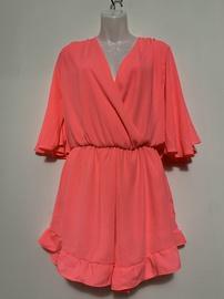 Queenly size 0  Orange Romper/Jumpsuit evening gown/formal dress