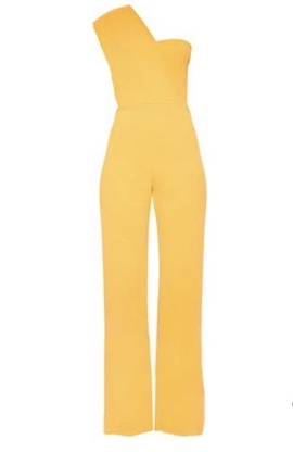 Queenly size 4  Yellow Romper/Jumpsuit evening gown/formal dress