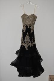 Night Studio Black Size 6 Sweetheart Mermaid Dress on Queenly