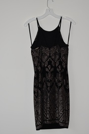 Jump Apparel Black Size 2 Rose Gold Mini Straight Dress on Queenly
