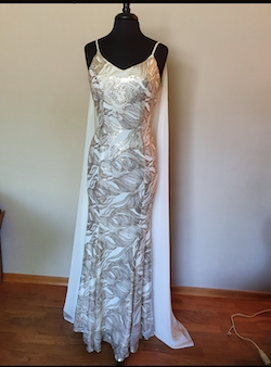 Queenly size 6 City Triangle White Train evening gown/formal dress