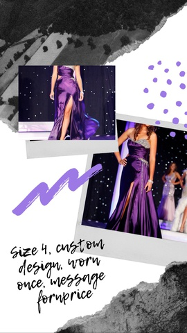 Queenly size 4  Purple Train evening gown/formal dress