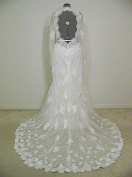 White Size 14 Mermaid Dress on Queenly