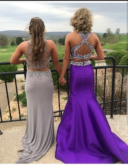 Rachel Allan Purple Size 0 Cut Out Halter Ball gown on Queenly
