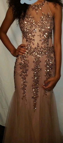 Queenly size 0 Camille La Vie Multicolor Mermaid evening gown/formal dress