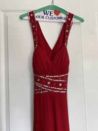 Queenly size 8 Dancing Queen Red Straight evening gown/formal dress
