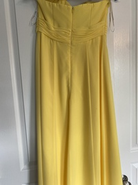 David's Bridal Yellow Size 2 Sweetheart Strapless Straight Dress on Queenly