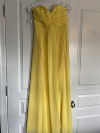 "Queenly size 2 ""b""""David's Bridal"""""" Yellow Straight evening gown/formal dress"