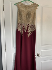 Abby Paris Red Size 8 Mini Nude Sheer Straight Dress on Queenly