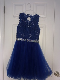 Dancing Queen Blue Size 0 Sequin Mini Ball gown on Queenly