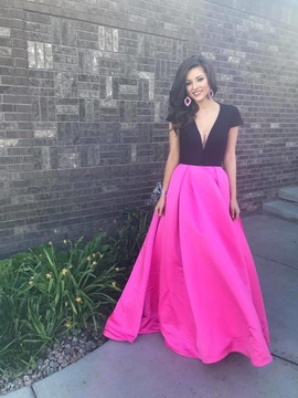 Jovani Hot Pink Size 00 Plunge A-line Dress on Queenly