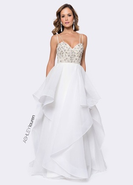 Ashley Lauren White Size 0 Short Height Sweetheart Backless A-line Dress on Queenly