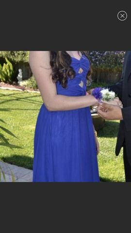 Adrianna Papell Purple Size 4 Royal Blue Ball gown on Queenly
