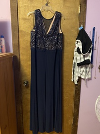 Blue Size 20 Straight Dress on Queenly