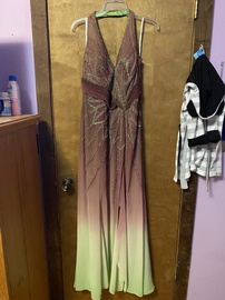 Queenly size 12  Multicolor Mermaid evening gown/formal dress