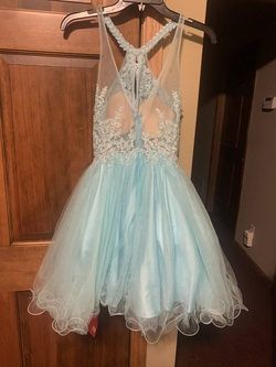 Dancing Queen Blue Size 0 Lace Cocktail Dress on Queenly