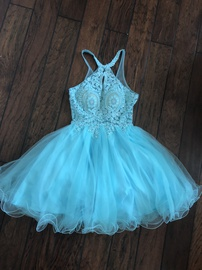 Queenly size 0 Dancing Queen Blue Cocktail evening gown/formal dress
