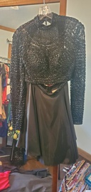 Queenly size 0 Sherri Hill Black Cocktail evening gown/formal dress