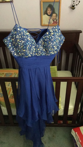 Queenly size 4  Blue Ball gown evening gown/formal dress