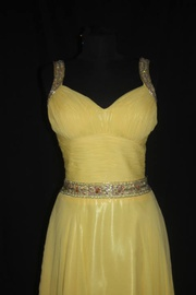 Queenly size 4  Yellow A-line evening gown/formal dress