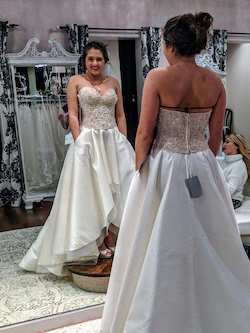 Martina Liana White Size 10 Prom Wedding Sweetheart A-line Dress on Queenly