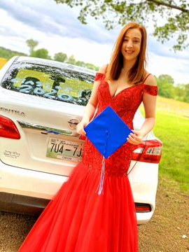 Queenly size 8 Sherri Hill Red Mermaid evening gown/formal dress