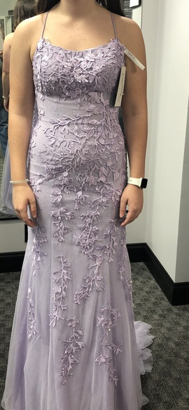 Purple Size 2 Train Dress on Queenly