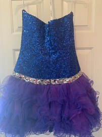 Sherri Hill Blue Size 6 Tall Height Cocktail Dress on Queenly