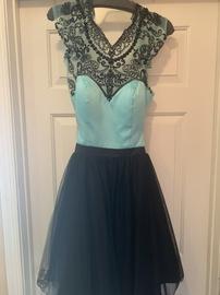 Rachel Allan Black Size 12 Flare Plus Size Cocktail Dress on Queenly