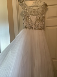 Sherri Hill White Size 6 Jewelled Pageant Tall Height A-line Dress on Queenly