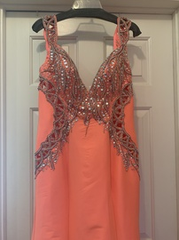 Queenly size 10 Mac Duggal Orange Mermaid evening gown/formal dress